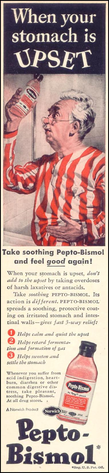 PEPTO-BISMOL WOMAN'S DAY 08/01/1948 p. 12