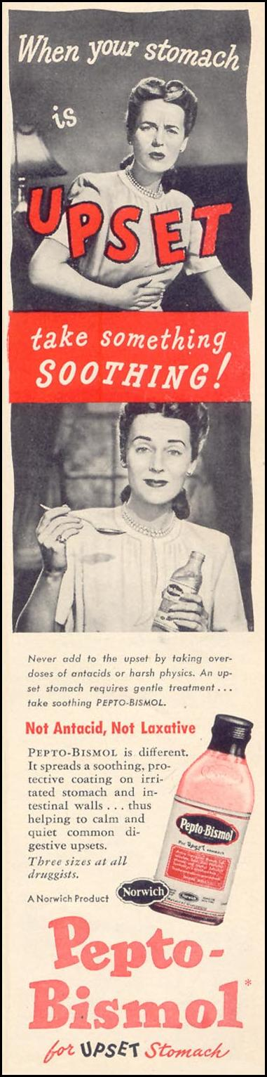PEPTO-BISMOL WOMAN'S DAY 09/01/1947 p. 11