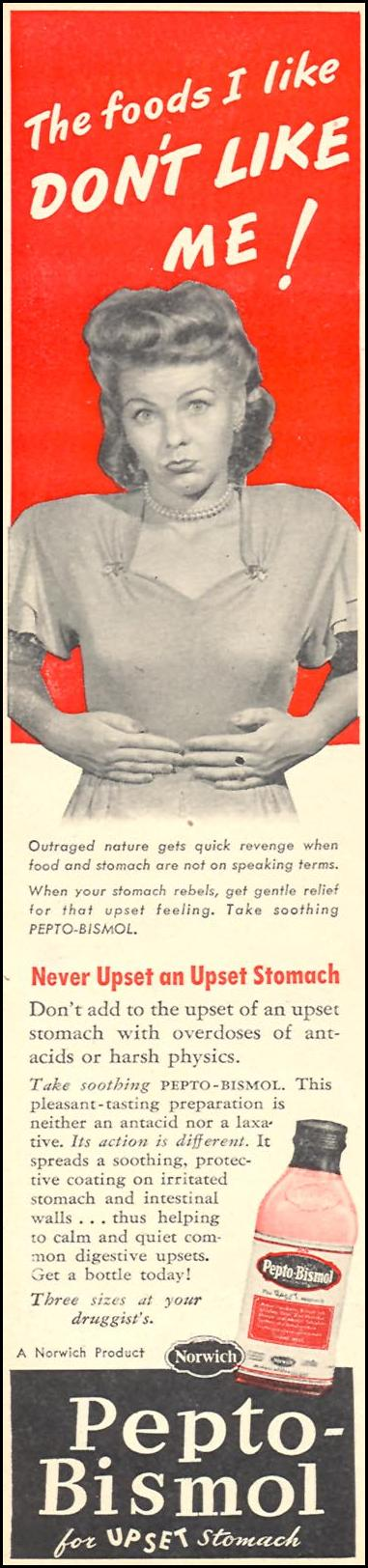 PEPTO-BISMOL WOMAN'S DAY 11/01/1946 p. 60