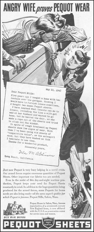 PEQUOT LINENS LIFE 10/25/1943 p. 18