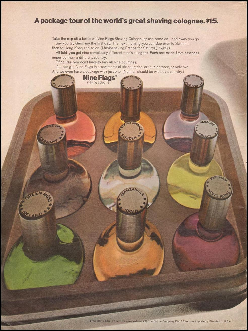 NINE FLAGS SHAVING COLOGNE NEWSWEEK 05/20/1968