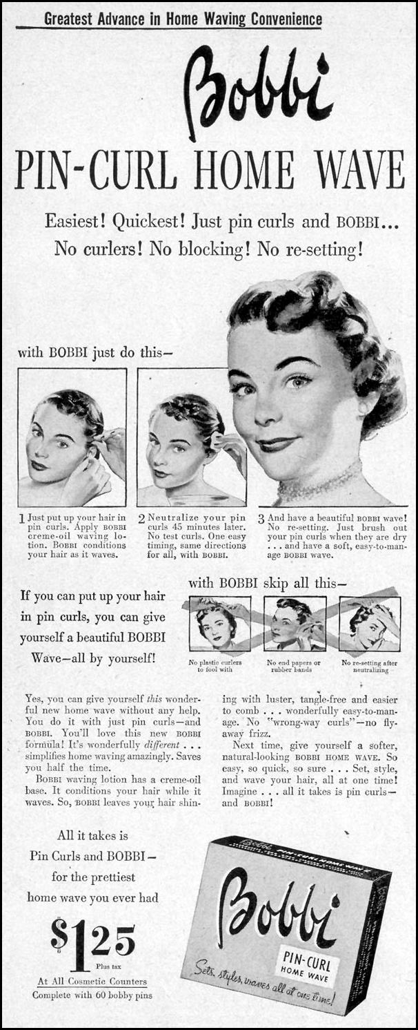 BOBBI PIN-CURL HOME WAVE LIFE 07/30/1951 p. 62