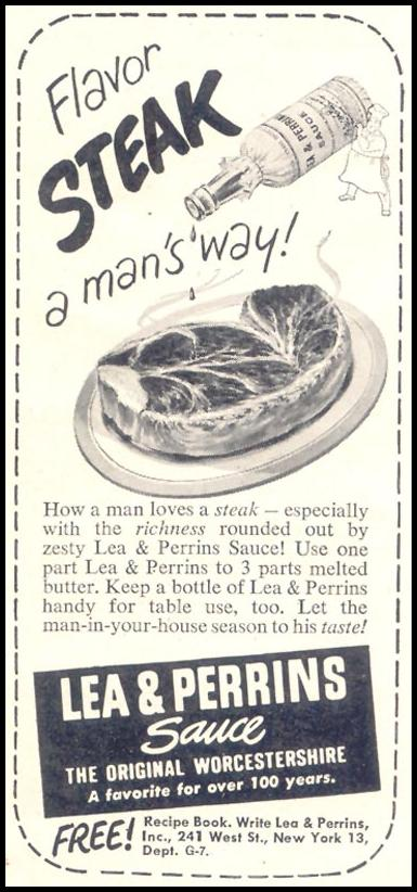 LEA & PERRINS SAUCE GOOD HOUSEKEEPING 07/01/1949 p. 157