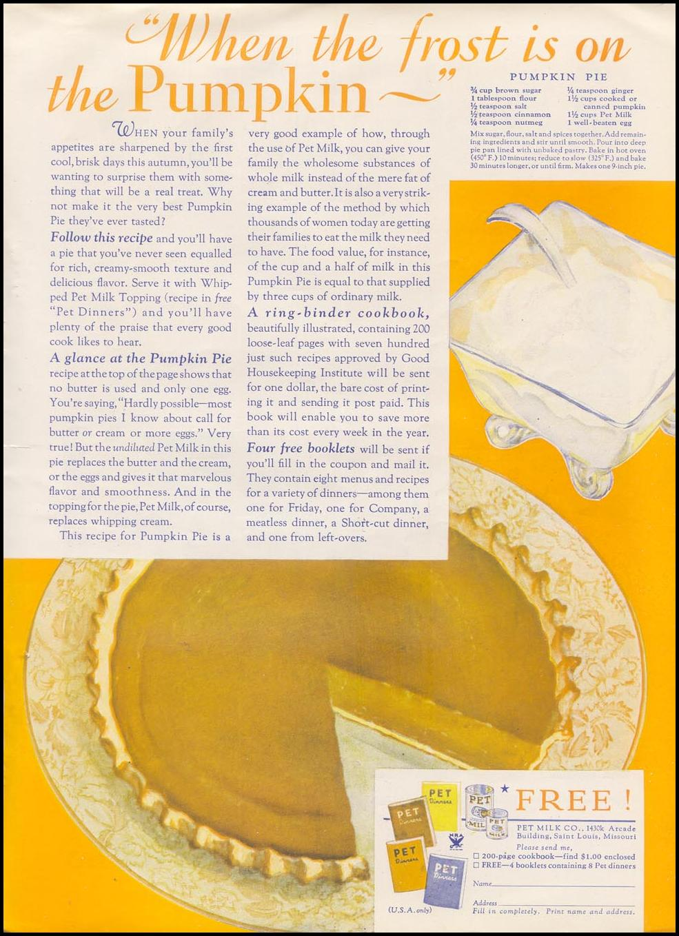 PET EVAPORATED MILK GOOD HOUSEKEEPING 11/01/1933