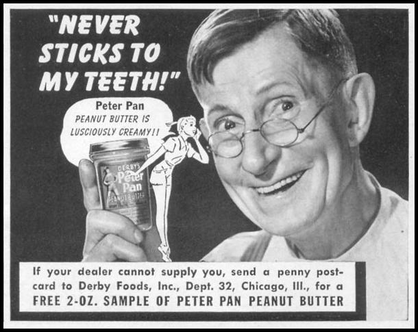 PETER PAN PEANUT BUTTER WOMAN'S DAY 04/01/1941 p. 75