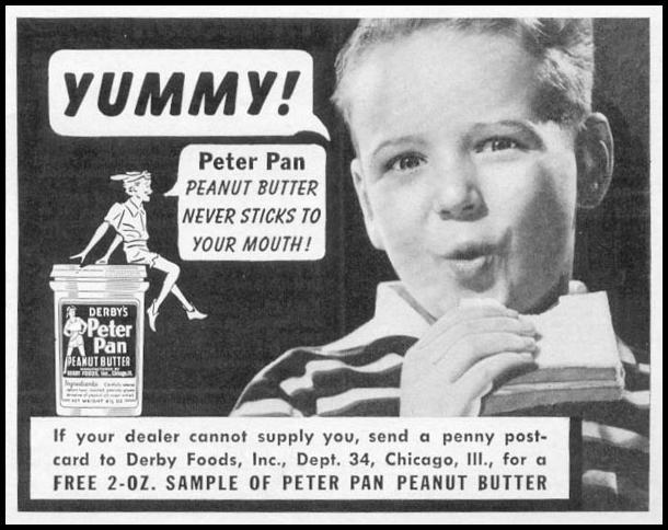 PETER PAN PEANUT BUTTER WOMAN'S DAY 06/01/1941 p. 55