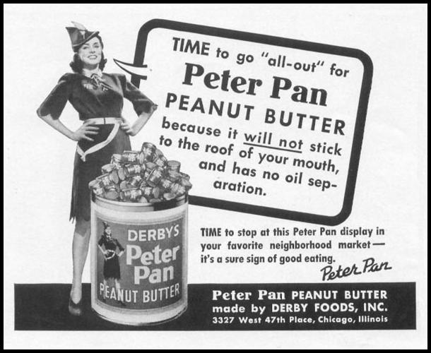 PETER PAN PEANUT BUTTER WOMAN'S DAY 09/01/1942 p. 62