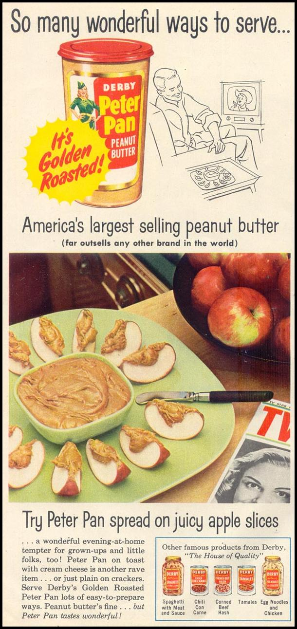 PETER PAN PEANUT BUTTER WOMAN'S DAY 03/01/1954 p. 100