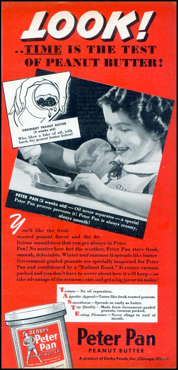 PETER PAN PEANUT BUTTER WOMAN'S DAY 09/01/1940 p. 55