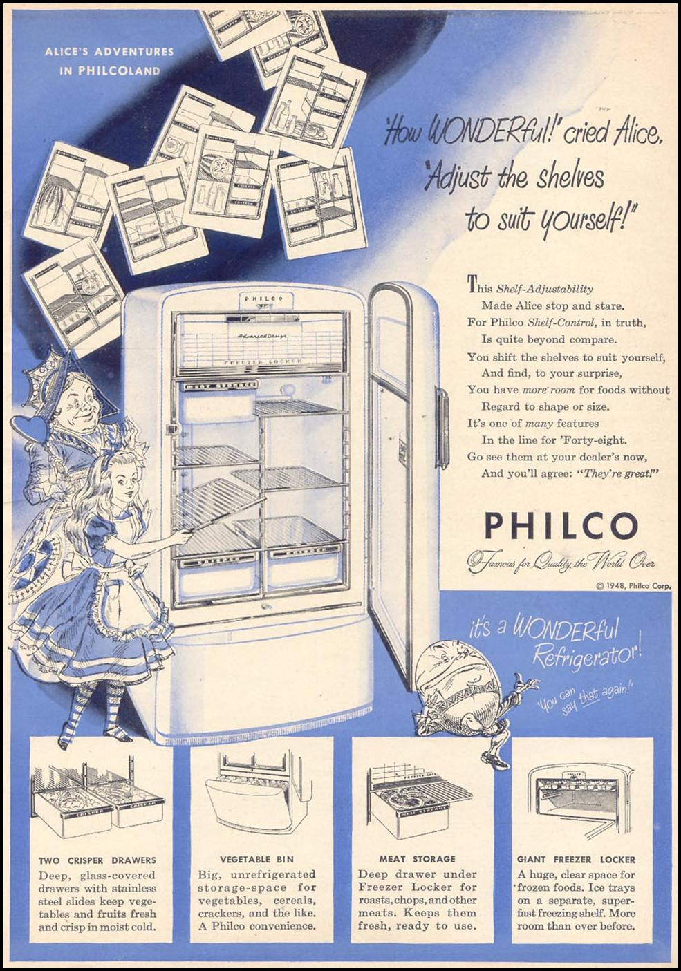 PHILCO REFRIGERATORS WOMAN'S DAY 09/01/1948 p. 5