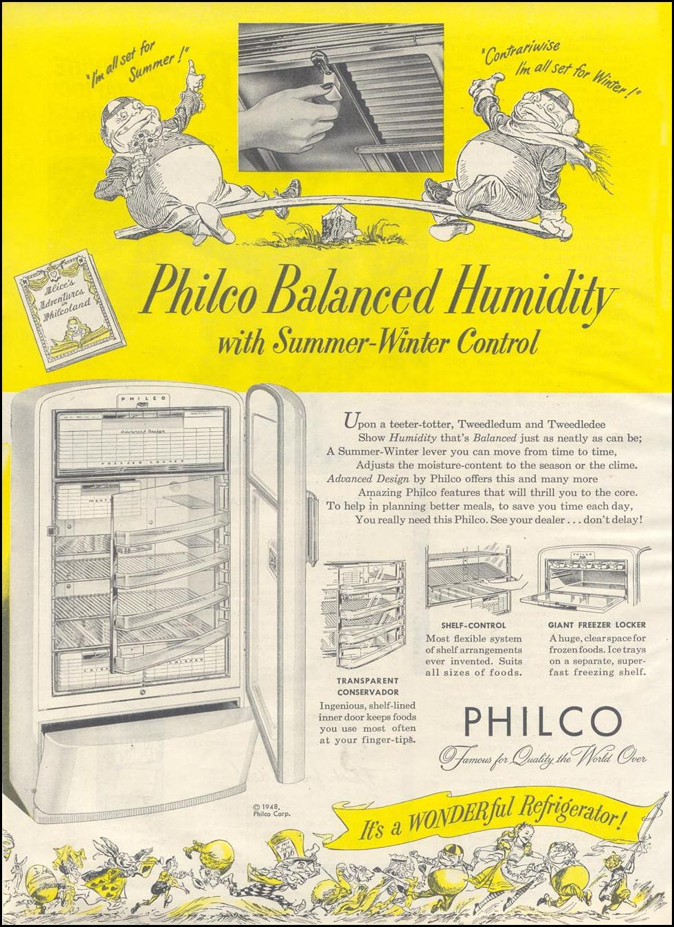 PHILCO REFRIGERATORS GOOD HOUSEKEEPING 07/01/1948 p. 124
