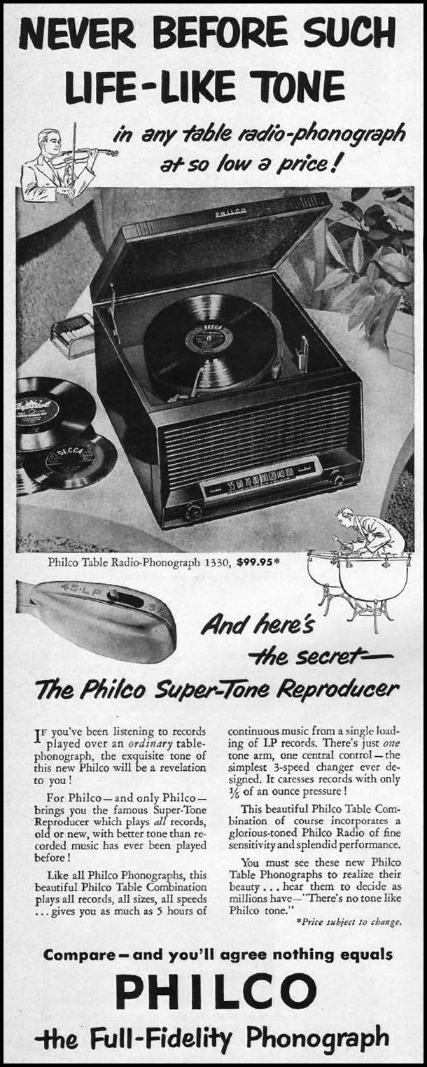 PHILCO TABLE PHONOGRAPHS LIFE 04/30/1951 p. 40