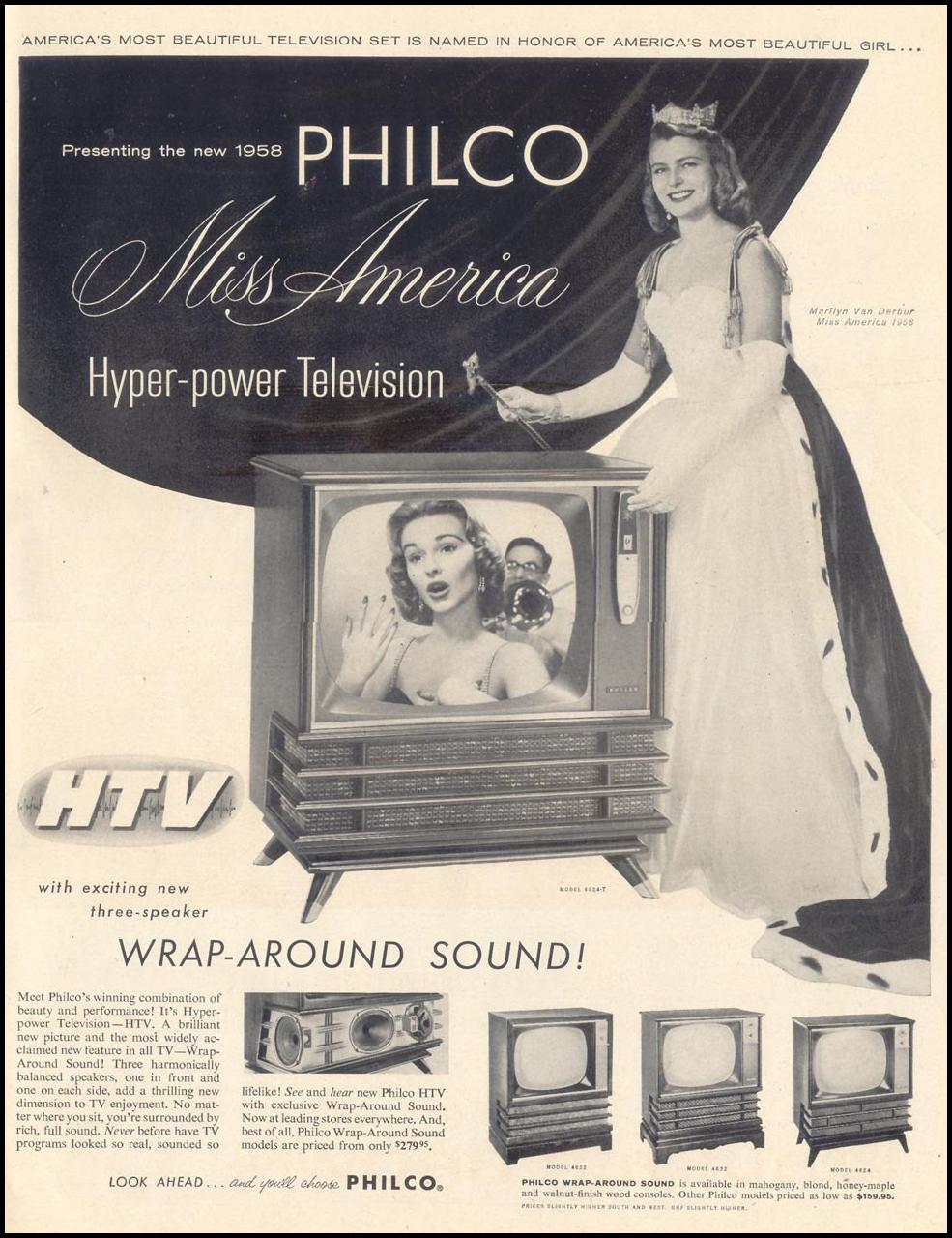 PHILCO MISS AMERICA HYPER-POWER TELEVISION LIFE 11/11/1957 p. 1