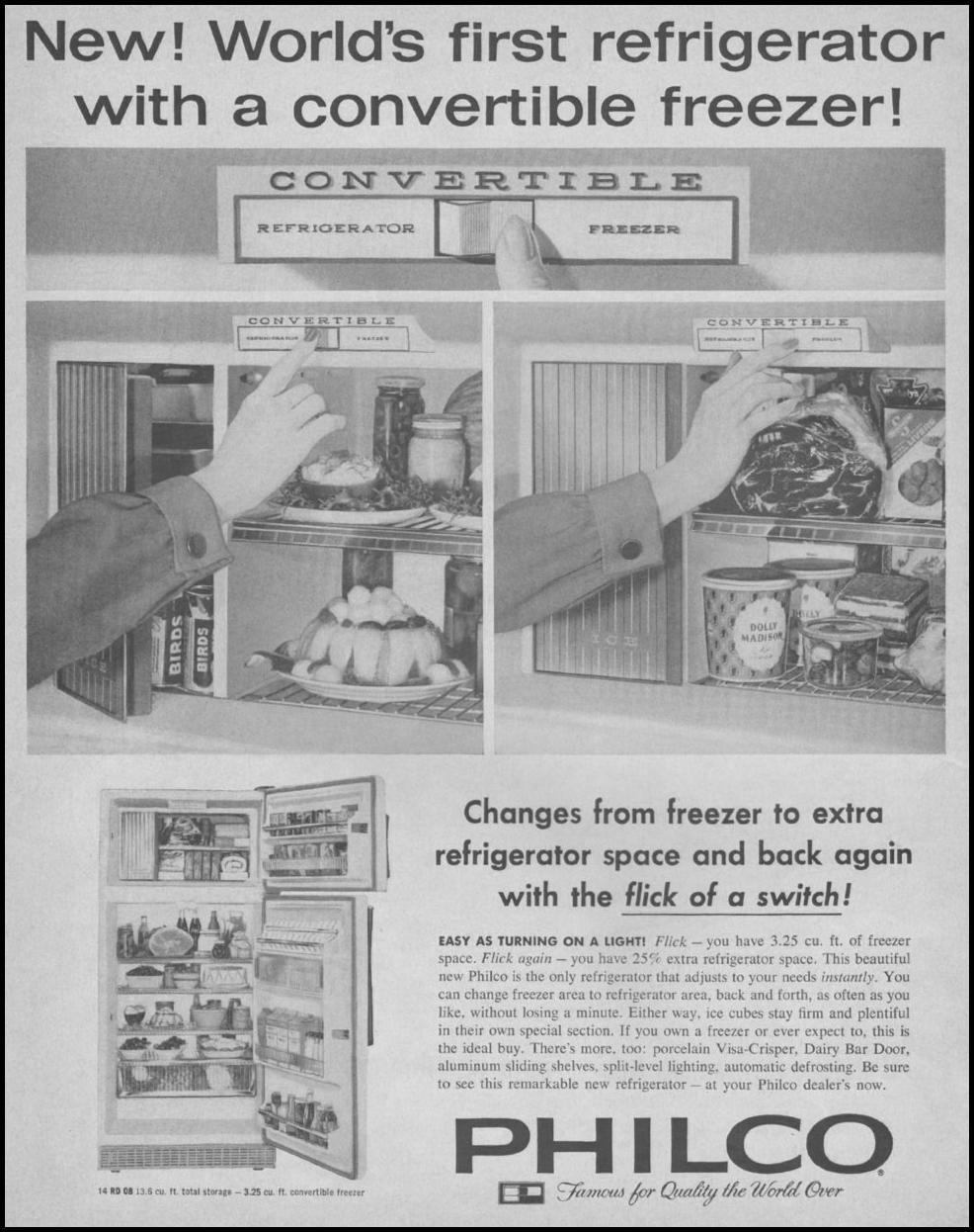 PHILCO REFRIGERATORS SATURDAY EVENING POST 06/11/1960 p. 2