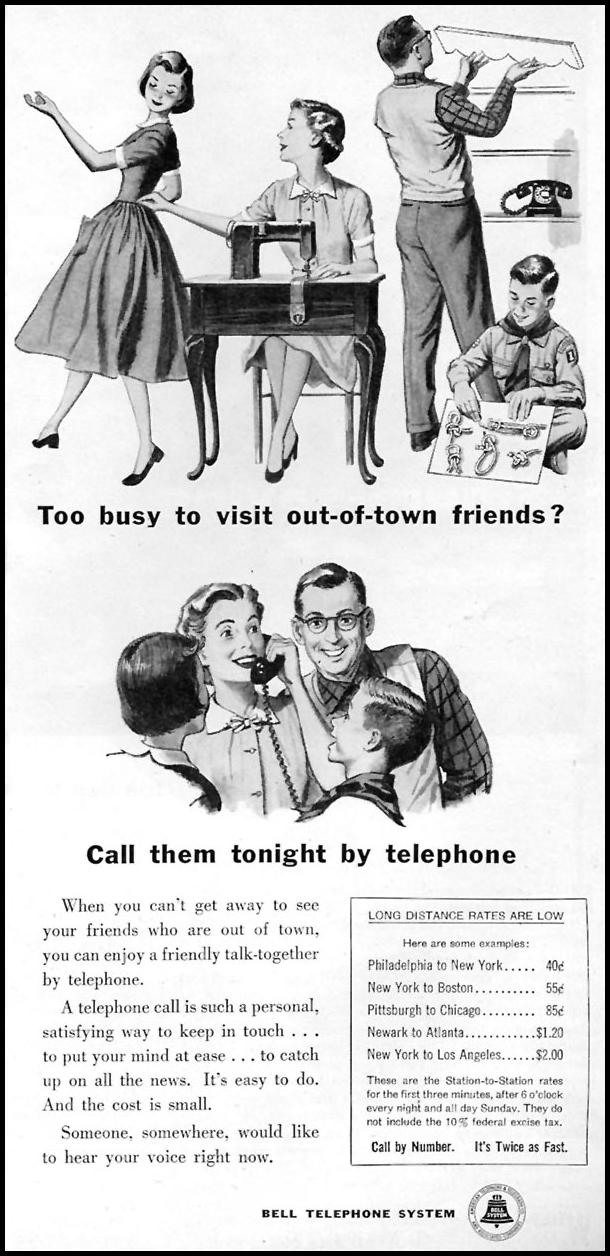 TELEPHONE SERVICE FAMILY CIRCLE 01/01/1956 p. 77