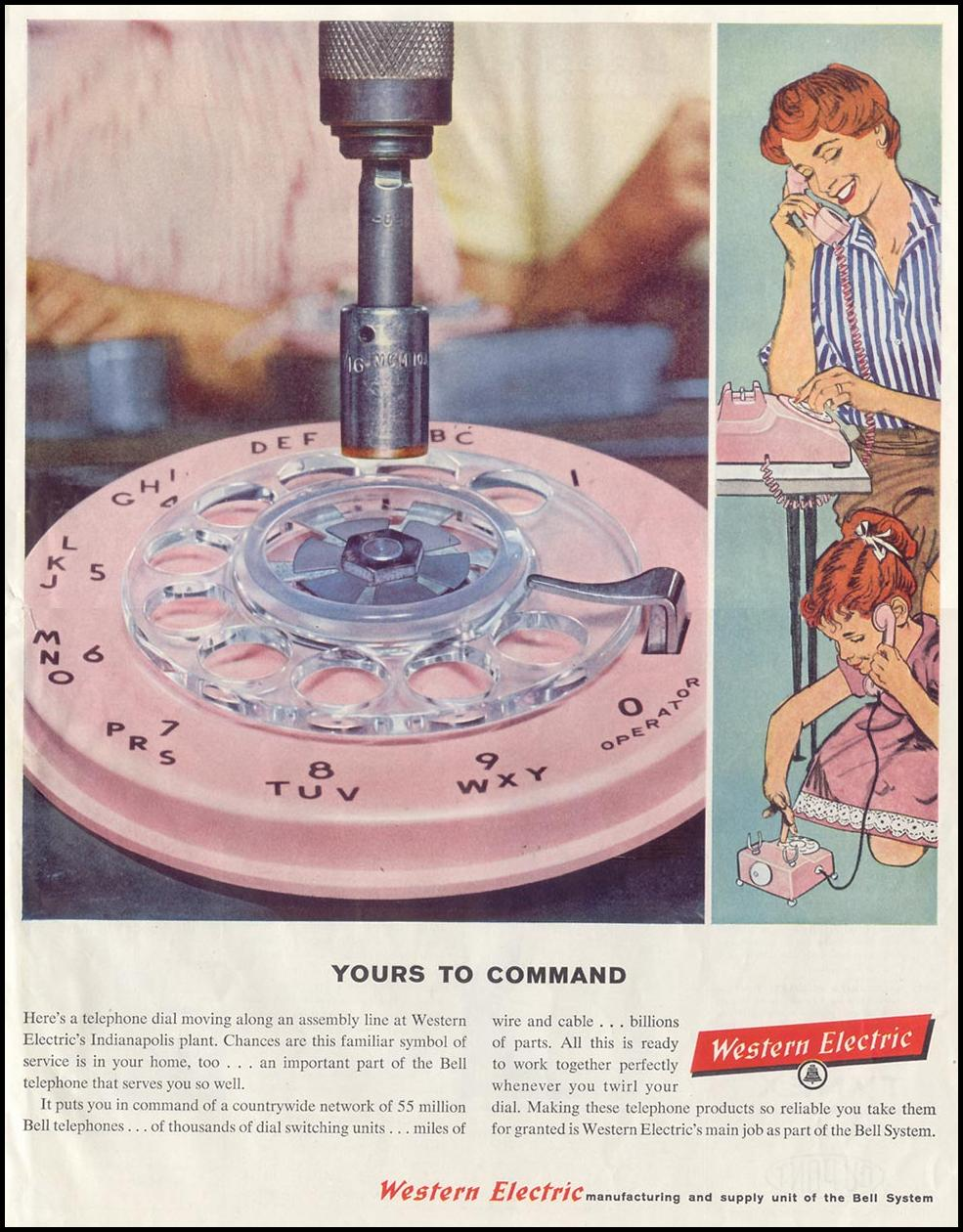 TELEPHONE EQUIPMENT SATURDAY EVENING POST 08/15/1959 p. 97