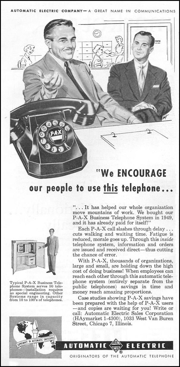P-A-X BUSINESS TELEPHONE SYSTEM TIME 06/08/1953 p. 128