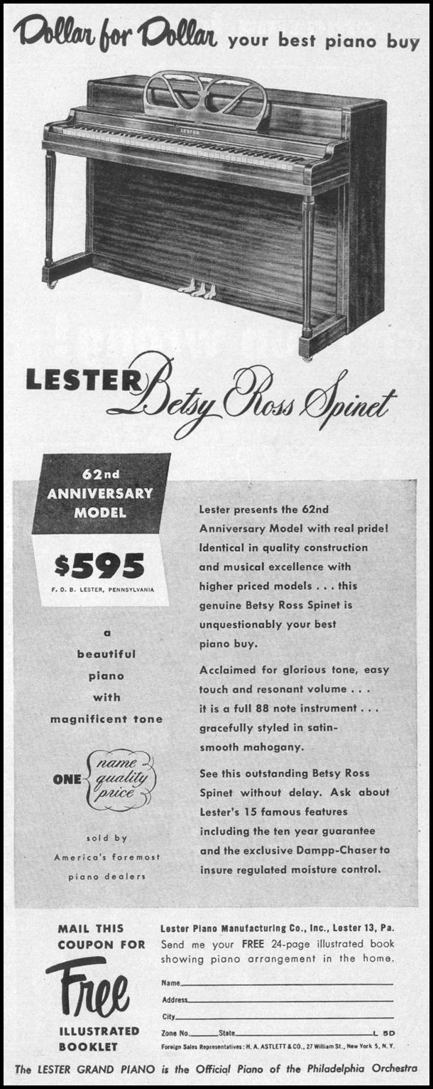 BETSY ROSS SPINET LIFE 04/17/1950 p. 13