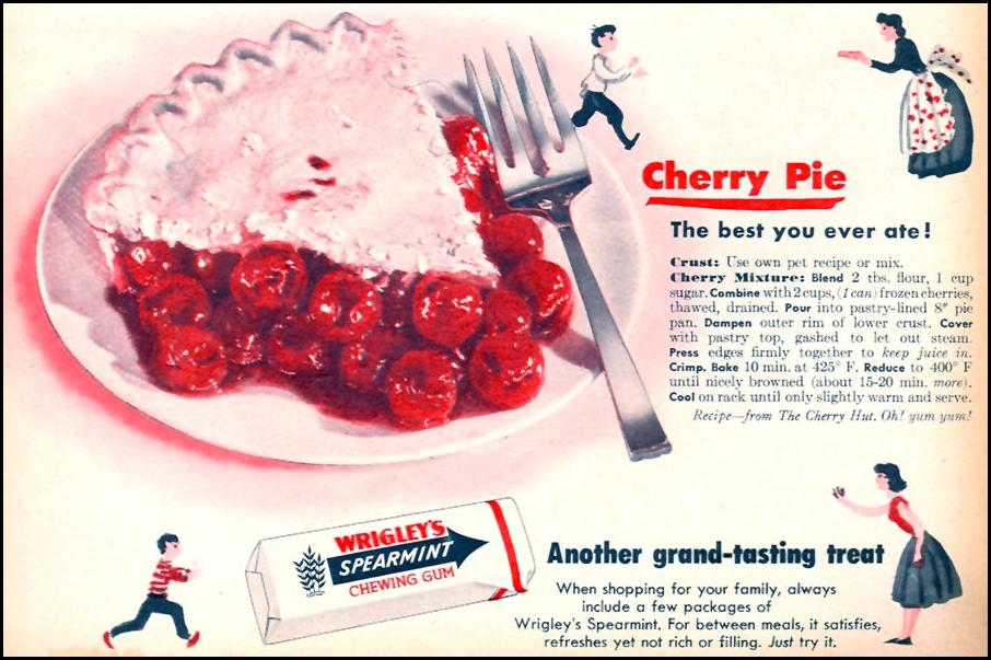 WRIGLEY'S SPEARMINT CHEWING GUM FAMILY CIRCLE 02/01/1956 p. 57