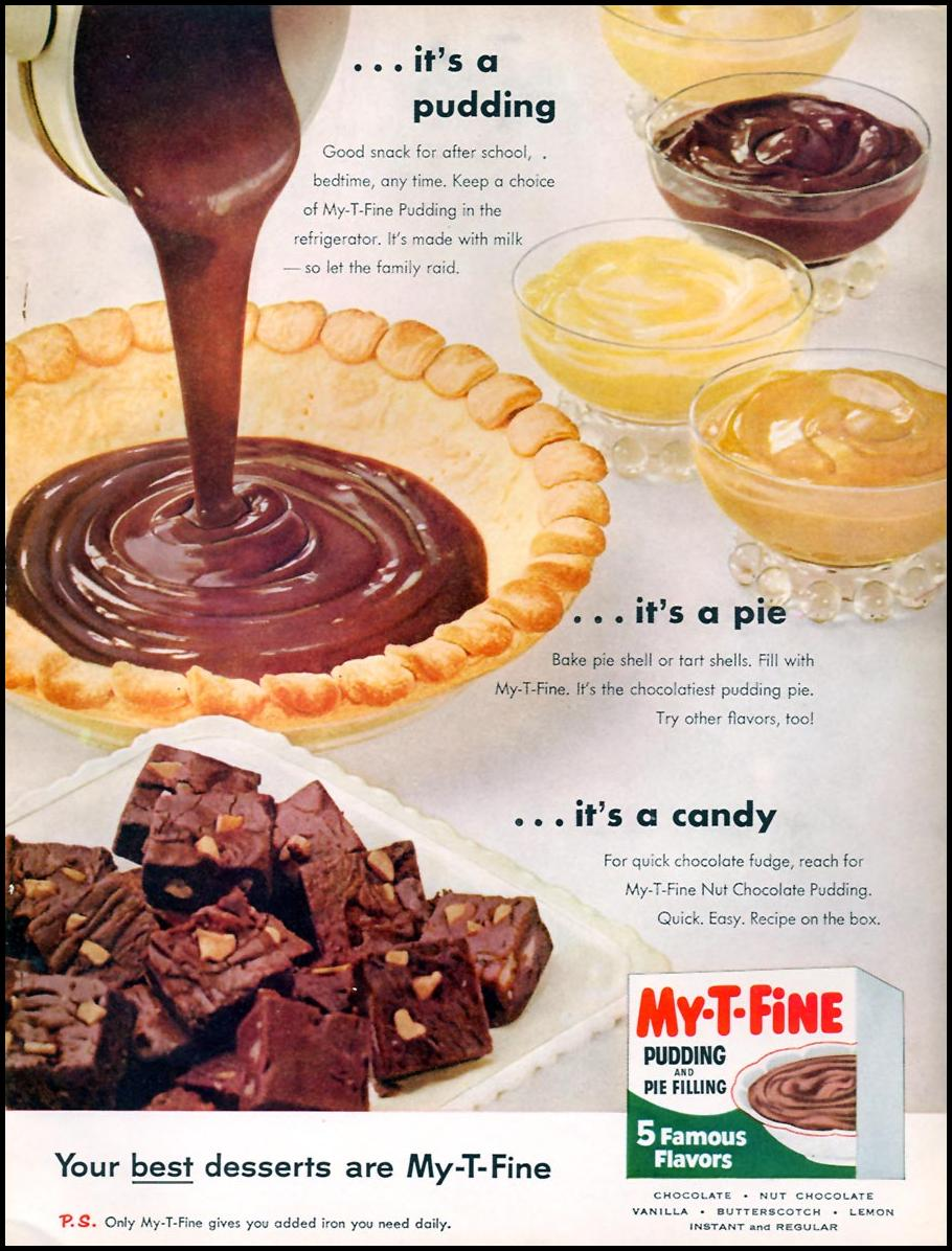 MY-T-FINE PUDDING FAMILY CIRCLE 02/01/1957 INSIDE BACK