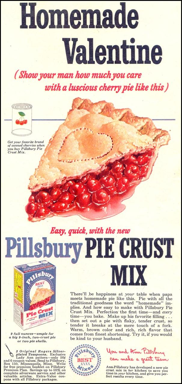 PILLSBURY PIE CRUST MIX WOMAN'S DAY 02/01/1950 p. 73