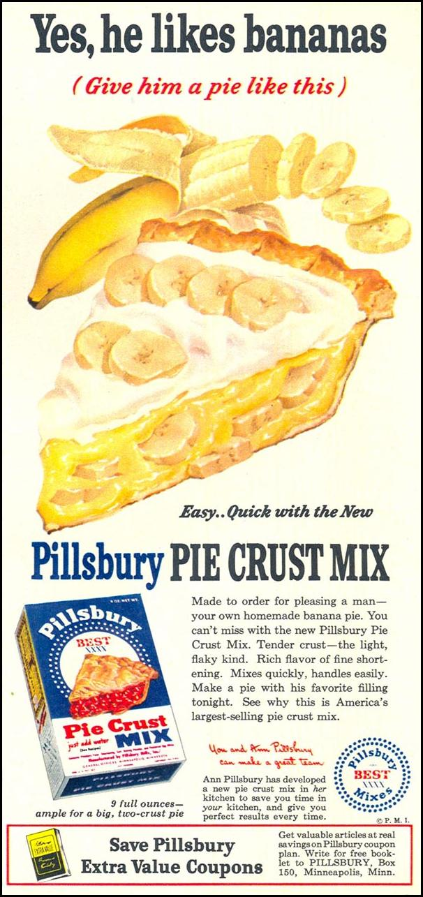 PILLSBURY PIE CRUST MIX WOMAN'S DAY 04/01/1949 p. 27