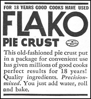 FLAKO PIE CRUST MIX WOMAN'S DAY 05/01/1940 p. 44