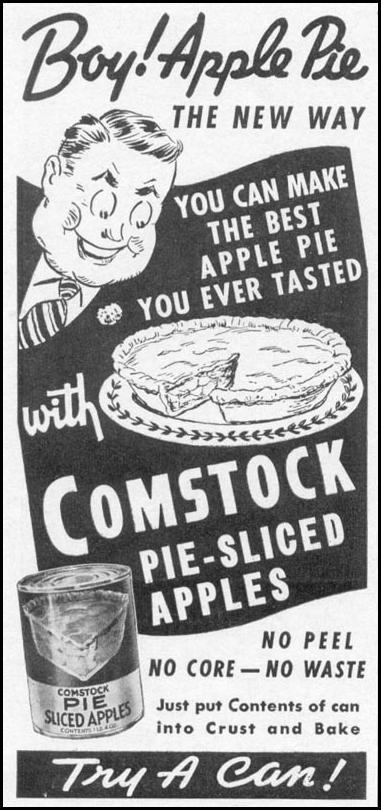 COMSTOCK PIE-SLICED APPLES WOMAN'S DAY 05/01/1941 p. 60