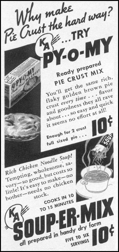 PY-O-MY PIE CRUST MIX WOMAN'S DAY 05/01/1941 p. 70