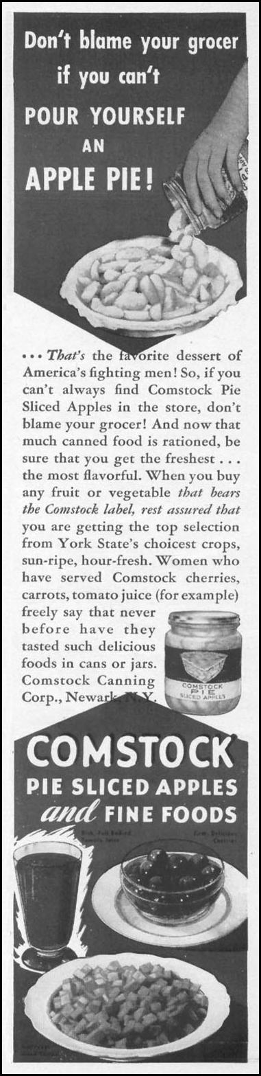 COMSTOCK PIE-SLICED APPLES WOMAN'S DAY 05/01/1943 p. 19