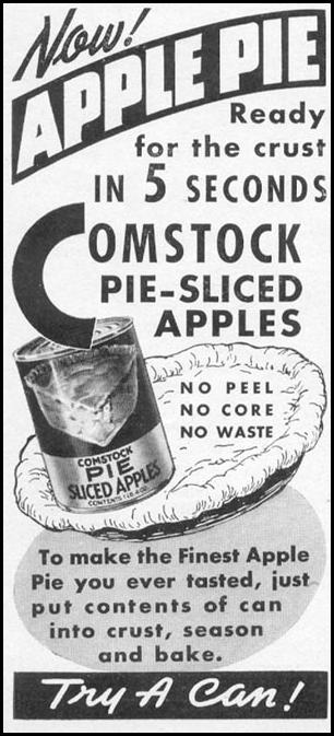 COMSTOCK PIE-SLICED APPLES WOMAN'S DAY 06/01/1941 p. 64