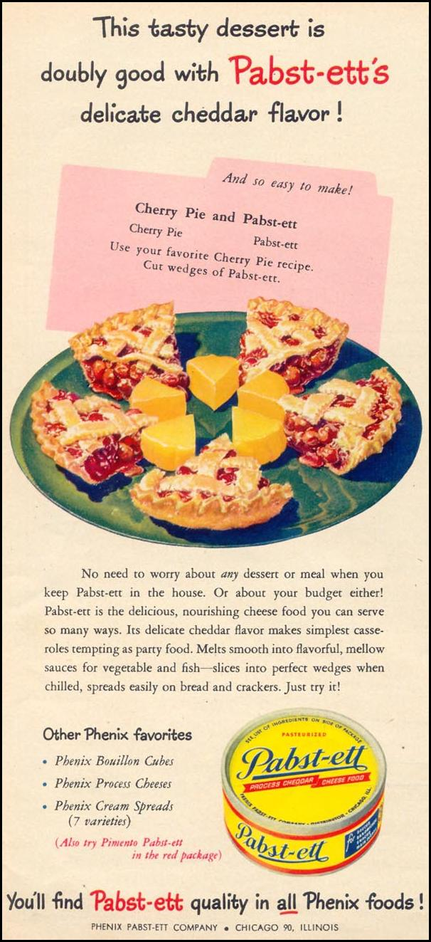 PABST-ETT CHEESE FOOD WOMAN'S DAY 09/01/1948 p. 82