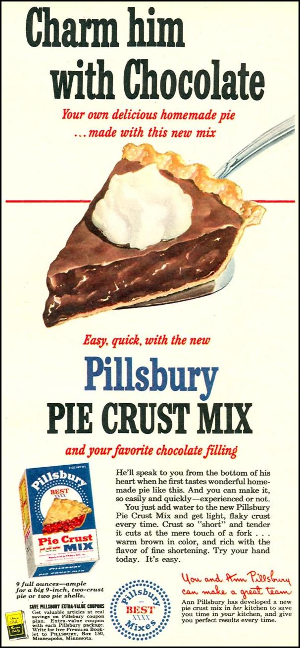 PILLSBURY PIE CRUST MIX WOMAN'S DAY 09/01/1949 p. 31