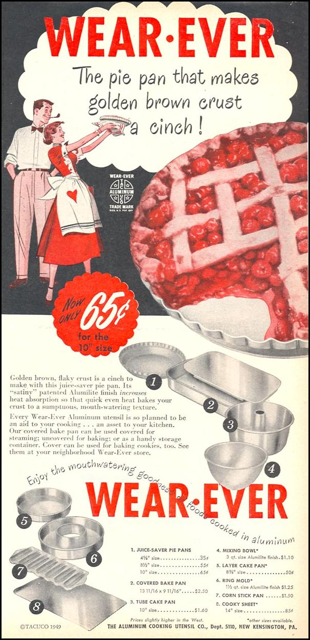 WEAR-EVER ALUMINUM COOKING UTENSILS WOMAN'S DAY 10/01/1949 p. 27