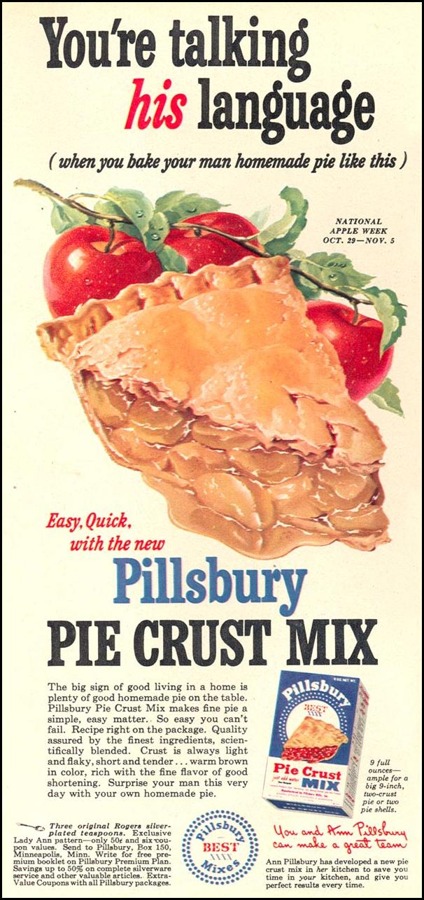 PILLSBURY PIE CRUST MIX WOMAN'S DAY 10/01/1949 p. 32