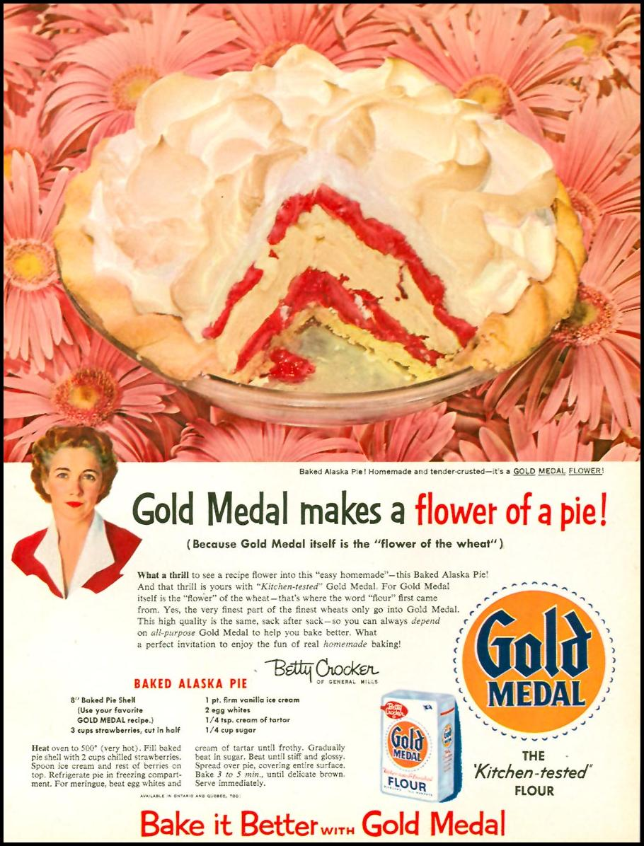 GOLD MEDAL ENRICHED FLOUR WOMAN'S DAY 10/01/1956 p. 55