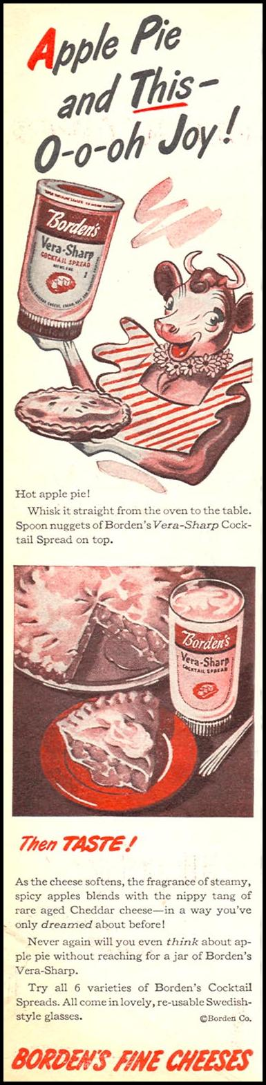 BORDEN'S VERA-SHARP CHESSE SPREAD WOMAN'S DAY 11/01/1945 p. 8