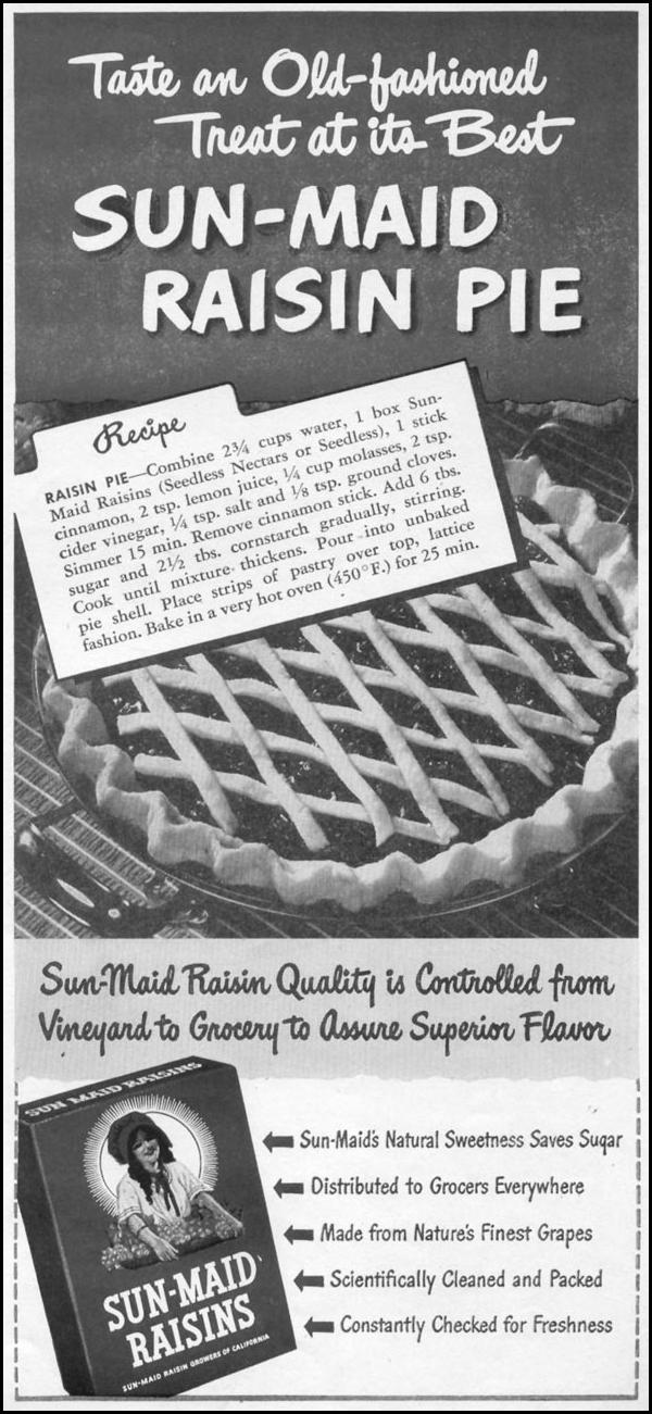SUN-MAID RAISINS WOMAN'S DAY 11/01/1945 p. 79