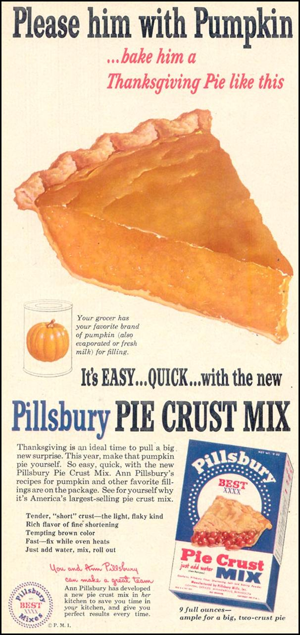 PILLSBURY PIE CRUST MIX WOMAN'S DAY 11/01/1948 p. 32