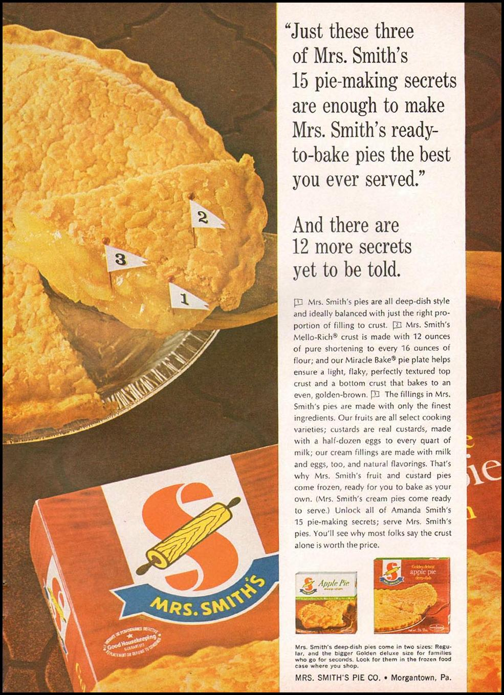 MRS. SMITH'S FROZEN PIES GOOD HOUSEKEEPING 10/01/1965