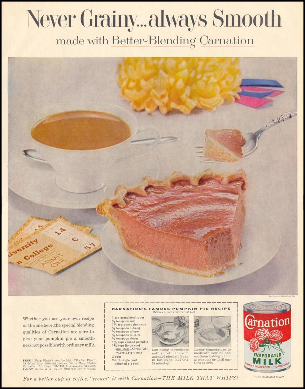 CARNATION EVAPORATED MILK LIFE 11/14/1955 p. 111