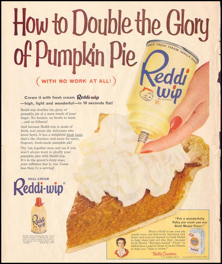 REDDI-WIP WHIPPED CREAM LIFE 11/14/1955 p. 196