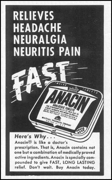ANACIN ANALGESIC TABLETS LIFE 06/16/1952 p. 102