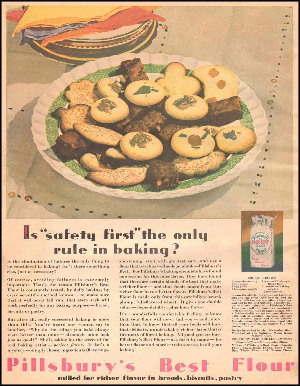 PILLSBURY'S BEST FLOUR THE HOME MAGAZINE 04/01/1930 BACK COVER
