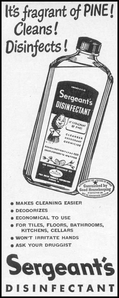SERGEANT'S DISINFECTANT WOMAN'S DAY 06/01/1946 p. 82
