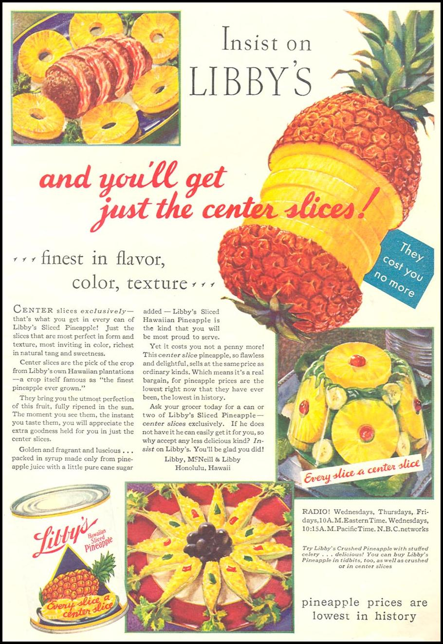 LIBBY'S HAWAIIAN PINEAPPLE GOOD HOUSEKEEPING 01/01/1932 p. 13