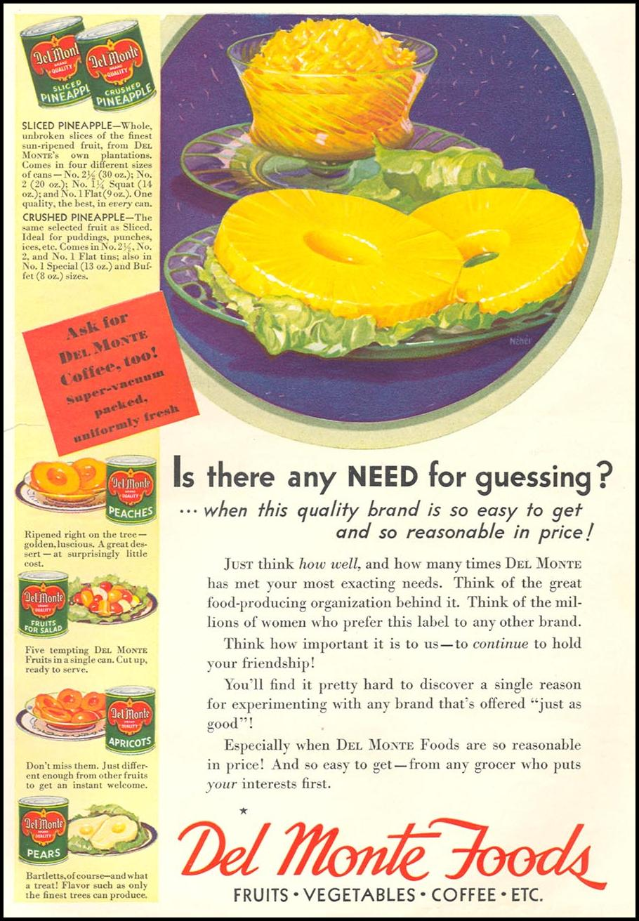 DEL MONTE FOODS GOOD HOUSEKEEPING 01/01/1932 p. 117