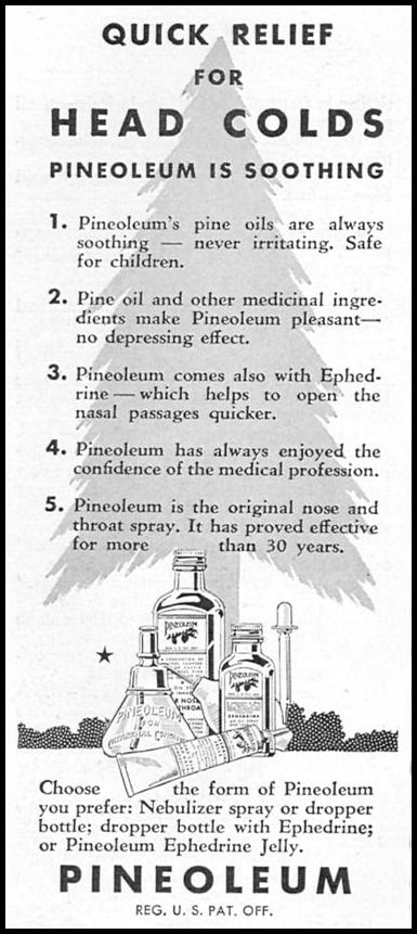 PINEOLEUM GOOD HOUSEKEEPING 12/01/1934 p. 192