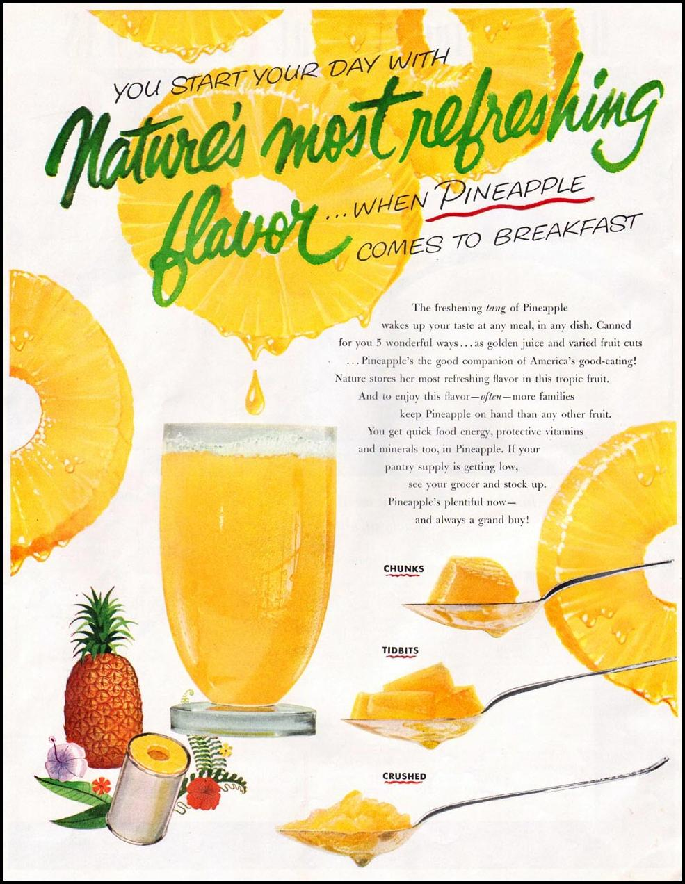 CANNED PINEAPPLE WOMAN'S HOME COMPANION 12/01/1952 p. 47