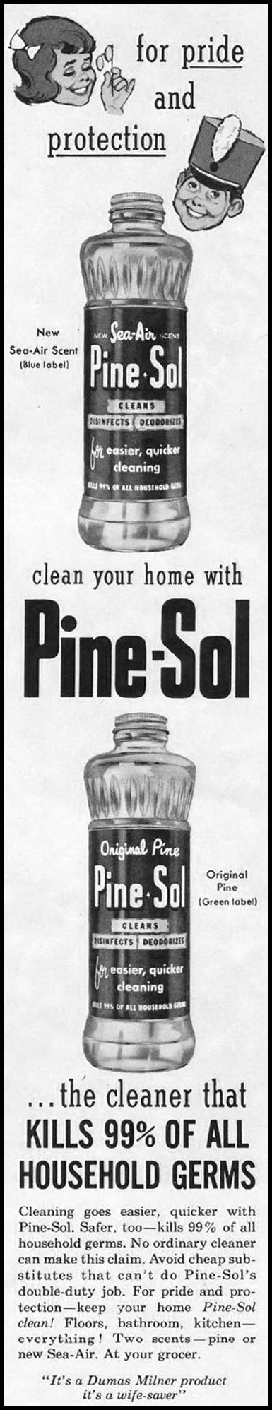 PINESOL CLEANSER LADIES' HOME JOURNAL 06/01/1961 p. 37